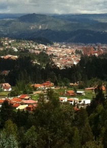 The view from our house overlooking Cuenca.