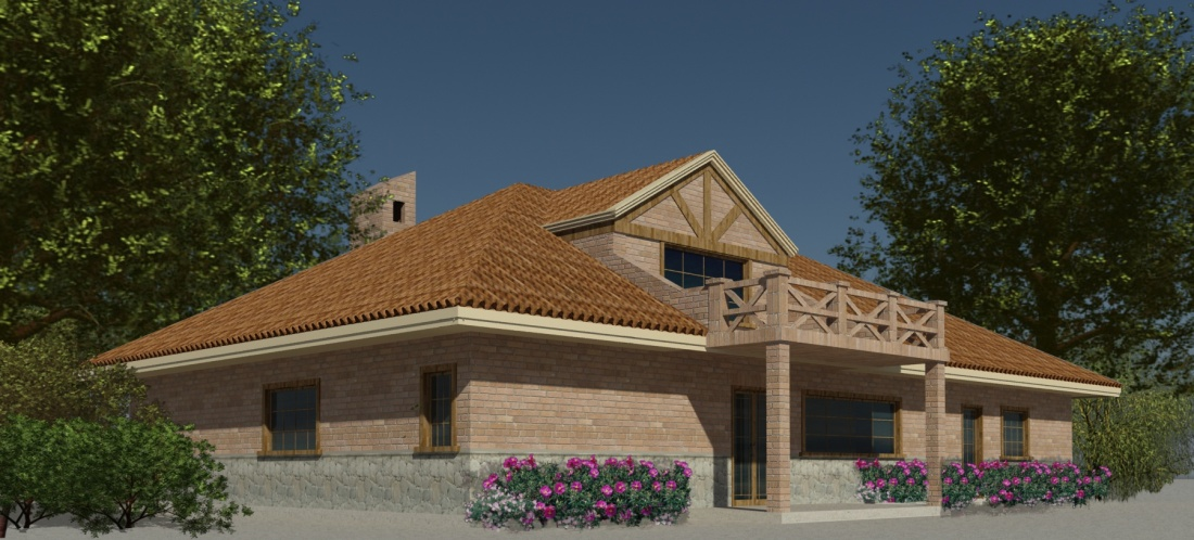The Architect's rendering of our new home in Ecuador.