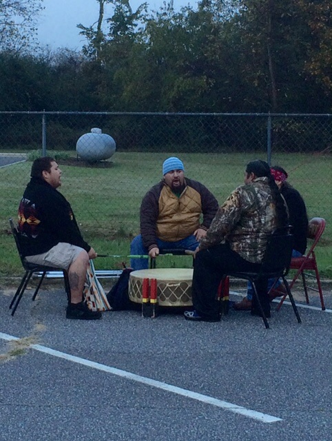 The Eastern Band of Cherokee Indian drummers.