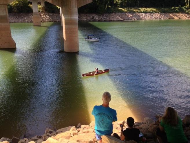 The finish line was under the bridge.