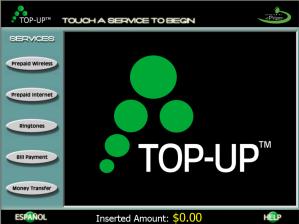 TOPUP screen shot