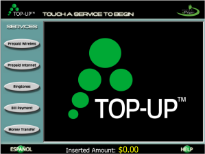 TOPUP screen shot