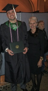 My son graduated just six days before me! I am the proudest mom in the world.