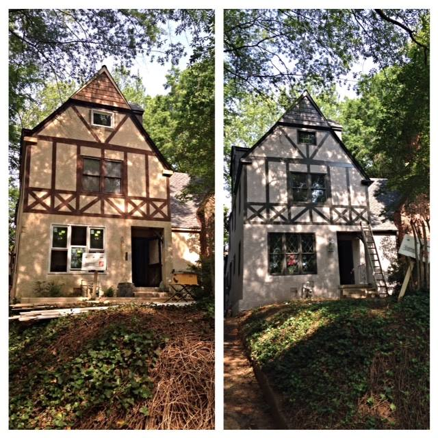 The old and new exterior color scheme.
