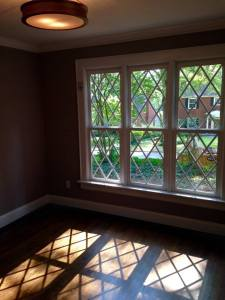 A view of the new window from the 1st floor office.