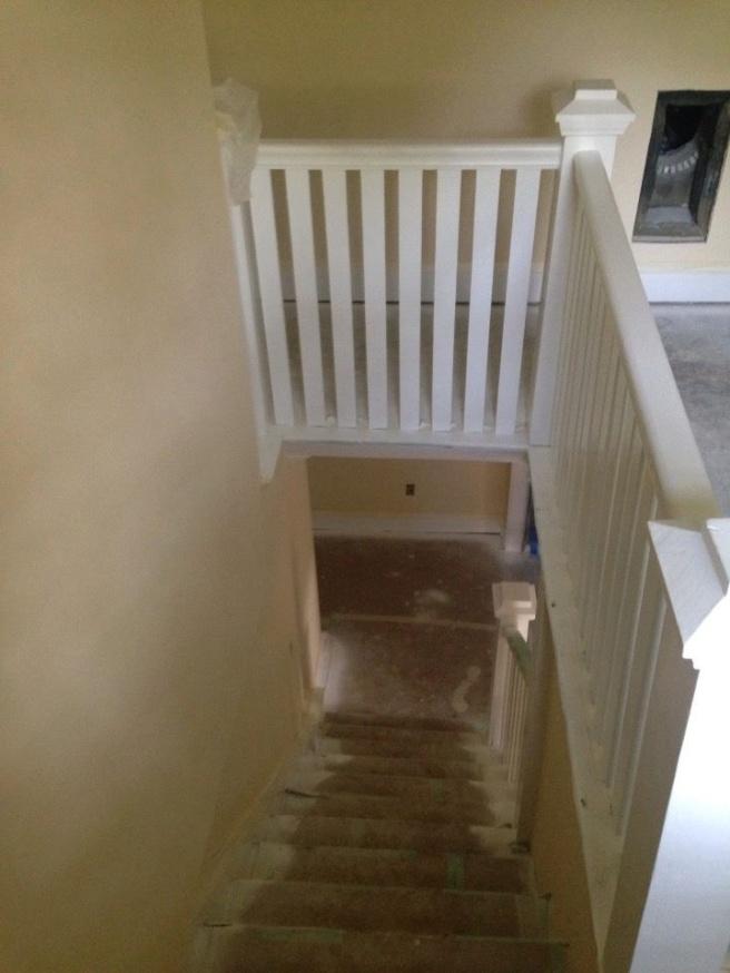 3rd floor stairway in-progress