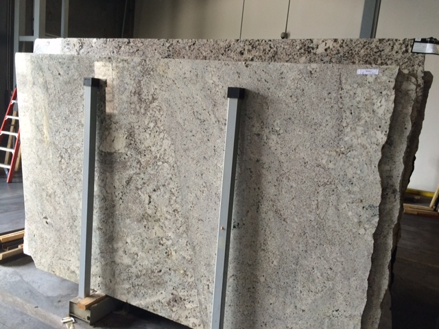 We selected the granite for the counter tops from a picture sent from the supplier.