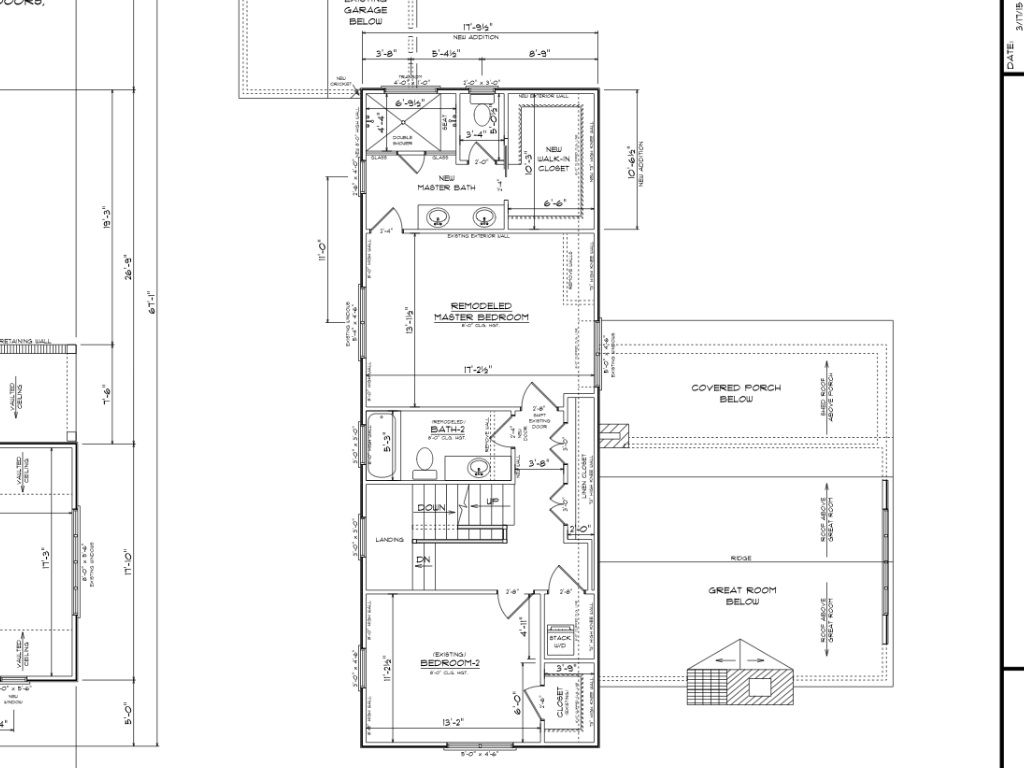 A large dormer expansion would provide an en suite bath and master closet.