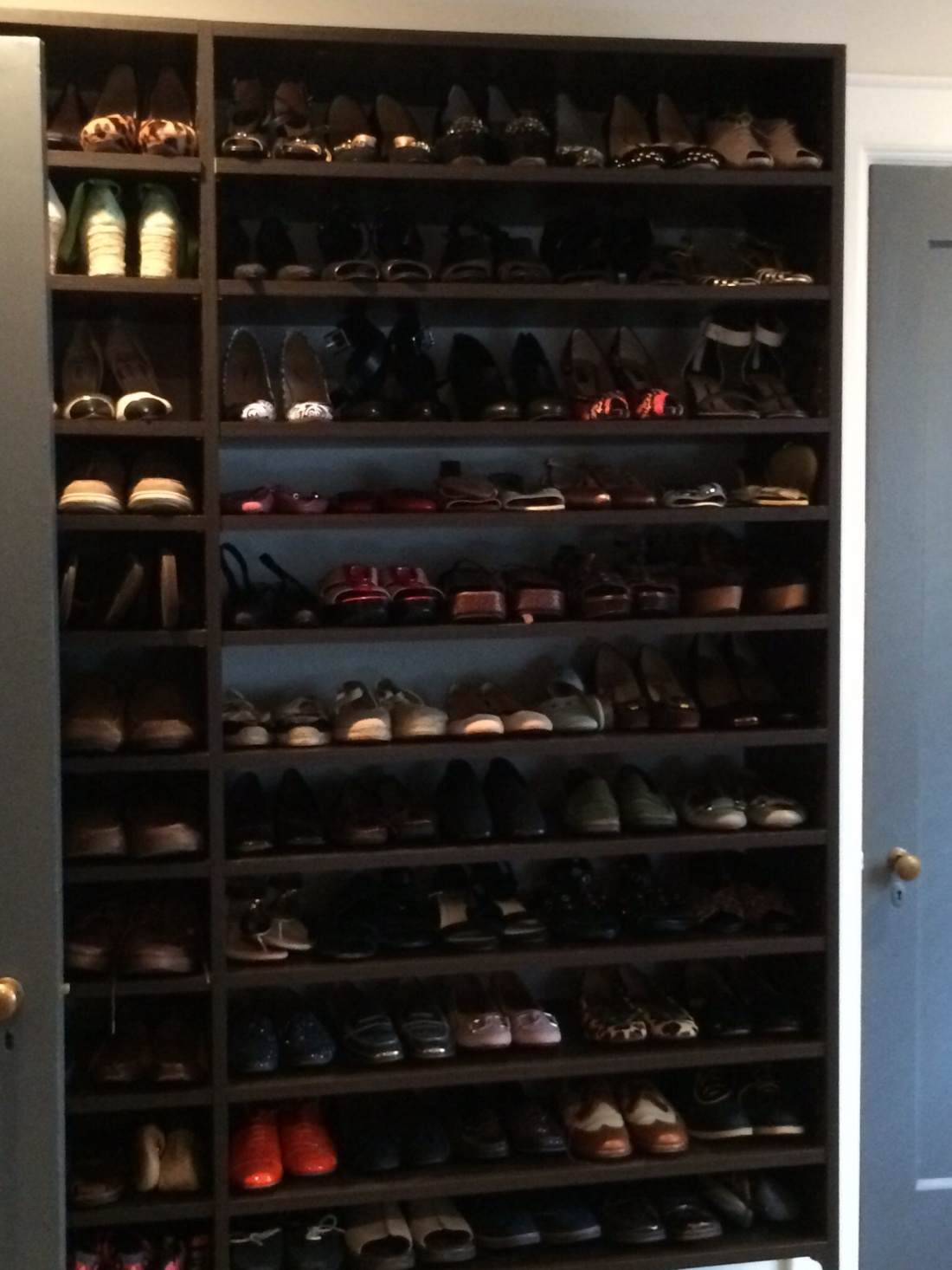 A wall of shoes...