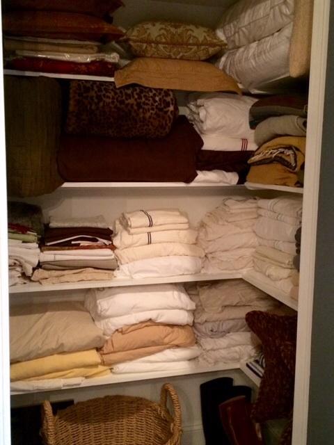 The 2nd bedroom's original closet became the linen closet.