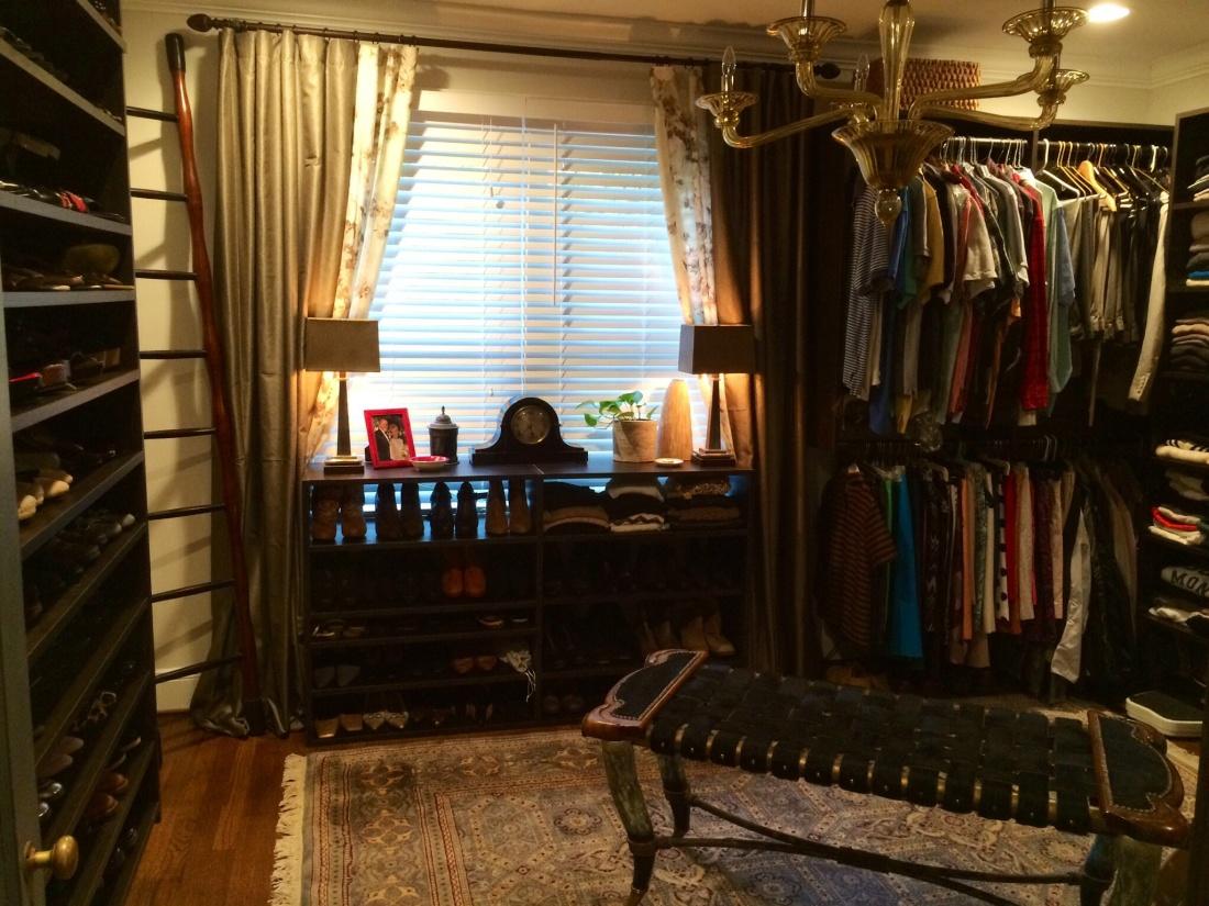 The new master closet.