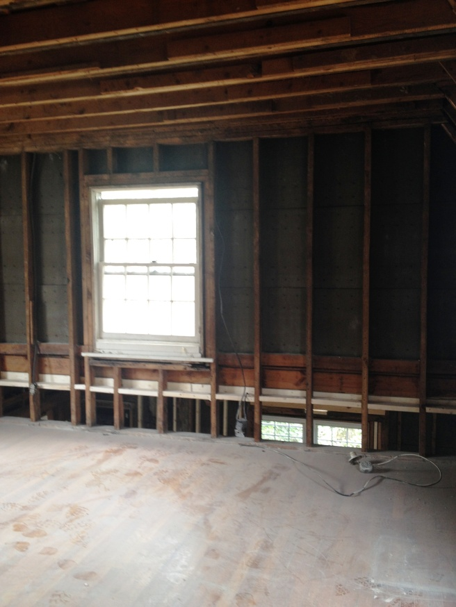 From the master bedroom, we could see a void between the floors.