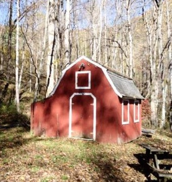 The storage barn.